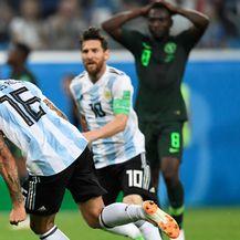 Rojo i Messi slave gol Nigeriji (Foto: AFP)