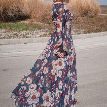 Haljina ISABELLA izrađena je od muslina sa širokim rukavima s volanima
