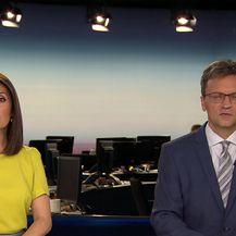 Domagoj Mikić i Inga Osrečak o problemu s nogostupom u Gajnicama (Video: Dnevnik Nove TV)
