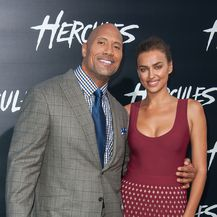 Irina Shayk i The Rock (Foto: AFP)