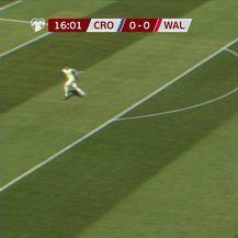 Autogol Velšana za 1:0 Hrvatske