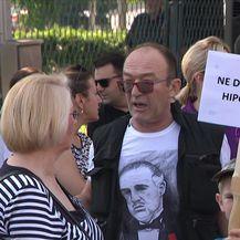 Prosvjed za zagrebački hipodrom (Video: Dnevnik Nove TV)