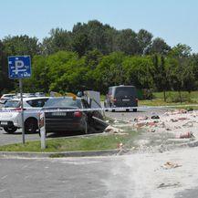 Mjesto na kojem se dogodila prometna nesreća kod Novske (Foto: Ivica Galovic/PIXSELL)