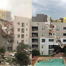 Građevinska dizalica pala na zgradu u Dallasu (Foto: Dnevnik.hr)