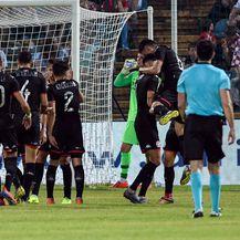 Tunis slavi gol protiv Hrvatske (Foto: AFP)
