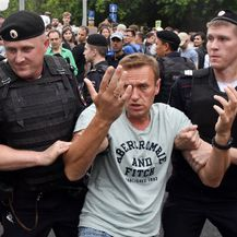 Ruska policija privela najmanje 400 osoba, uključujući Alekseja Navalnog (Foto: AFP)