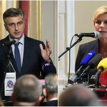 Premijer Plenković i predsjednica Grabar-Kitarović (Foto: Robert Anic/Marko Lukunic/PIXSELL)
