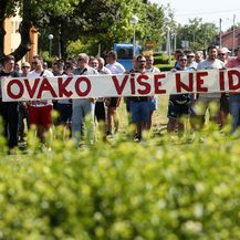 Prosvjed pravosudnih policajaca (Foto: Marin Tironi/PIXSELL)