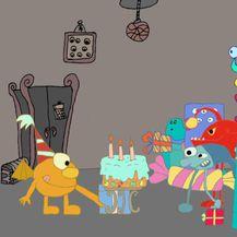 Prizor iz animiranog filma Rođendan čudovišta nastao na jednoj radionici