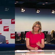 Mislav Bago razgovara s predsjednikom SDP-a Davorom Bernardićem (Video: Dnevnik Nove TV)