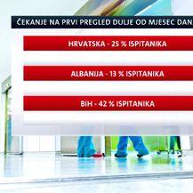 Grafika o čekanju pregleda (Foto: Dnevnik.hr)