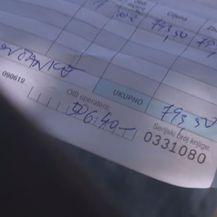 Ručno ispisan račun za vožnju (Foto: Dnevnik.hr)