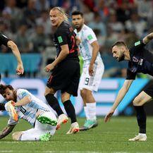 Luka Modrić, Lionel Messi, Domagoj Vida i Marcelo Brozović (Photo: Igor Kralj/PIXSELL)