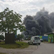 Požar u Grubišnom Polju (Foto: Elvis Lebinac)