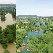 Mrežnica prije i nakon zamućenja (Foto: Radio Mrežnica)