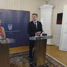 Marija Pejčinović Burić i Andrej Plenković (Foto: Dnevnik.hr)