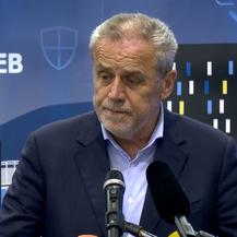 Milan Bandić na koneferenciji zagrebačkog stožera