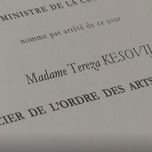 Tereza Kesovija dobila francusku medalju časnika - 1