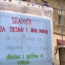 Natpis za obnovu od potresa u Zagrebu