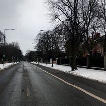 Ulica u Dublinu u kojoj je sve stalo zbog snijega (Foto: Čitatelj)