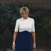 Brigitte u color block haljini