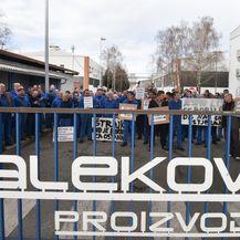 Radnici Dalekovoda u štrajku (Foto: Davor Visnjic/PIXSELL)