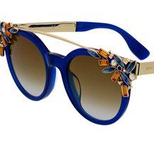 Sunčane naočale s cvjetnim uzorkom iz trgovina - 4