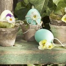 Ideje za uskrsne dekoracije s maćuhicama - 10