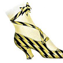 Skica cipele s početka 20. stoljeća