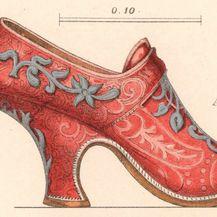 Skica cipele sa sredine 18. stoljeća