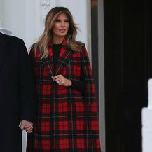 Melania Trump u kariranom uzorku