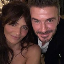 David Beckham i Helena Christensen (Foto: Instagram)