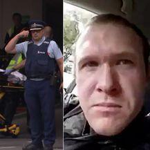 Novozelandska policija s ranjenima, napadač na džamije u Christchurchu (Foto: AFP)