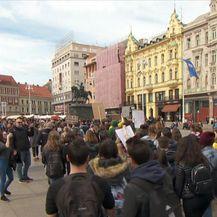 Učenički prosvjed protiv klimatskih promjena (Video: Dnevnik Nove TV)