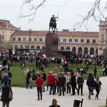 Prosvjed Spasi me (Foto: Dalibor Urukalovic/PIXSELL)