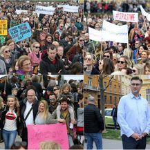 Veliki prosvjed protiv nasilja Spasime, došao i premijer Andrej Plenković (Foto: Dalibor Urukalovic/PIXSELL)