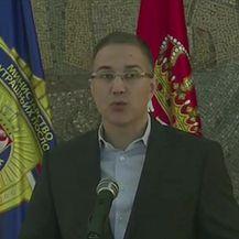 Srpski ministar unutarnjih poslova Nebojša Stefanović o prosvjedima u Beogradu (Video: Izvanredne vijesti Nove TV)