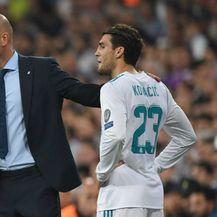 Zinedine Zidane i Mateo Kovačić (Foto: AFP)