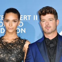 Robin Thicke i April Love Geary (Foto: AFP)