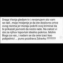 Poruke podrške Zdravku i Višnji Pevec (Foto: Dnevnik.hr)