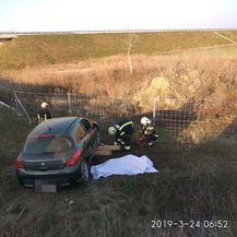 Nesreća kod Petrijevaca (Foto: JVP Osijek)