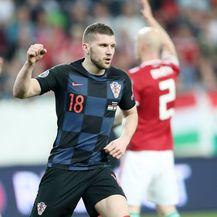 Ante Rebić slavi pogodak (Foto: Sanjin Strukic/PIXSELL)