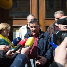 Predstavnici sindikata dali izjavu o neuspjelom otvaranju stečaja 3. Maja (Foto: Nel Pavletic/PIXSELL)