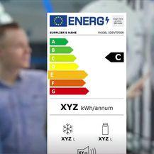 Nove energetske oznake, ilustracija