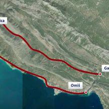 Cesta kojom će se morati ići do Omiša zbog radova na obilaznici