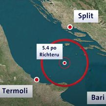 Potres na Jadranu magnitude 5,5 - 1