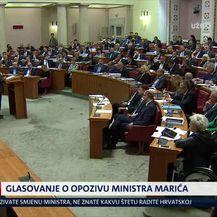 Bruna Esih glasala protiv opoziva Marića (Video: Izvanredne vijesti Nove TV)