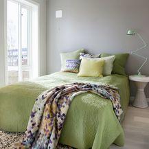 Ideje za uređenje spavaće sobe u žutoj i zelenoj boji