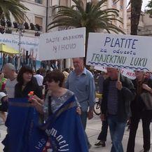 Prosvjed Dalmacijavina u Splitu (Foto: Dnevnik.hr)