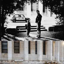 Usporedba fotografija snimljenih na istom mjestu ispred HDLU-a